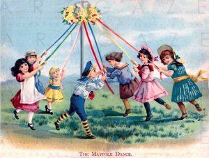 The Maypole Dancers, kids having fun